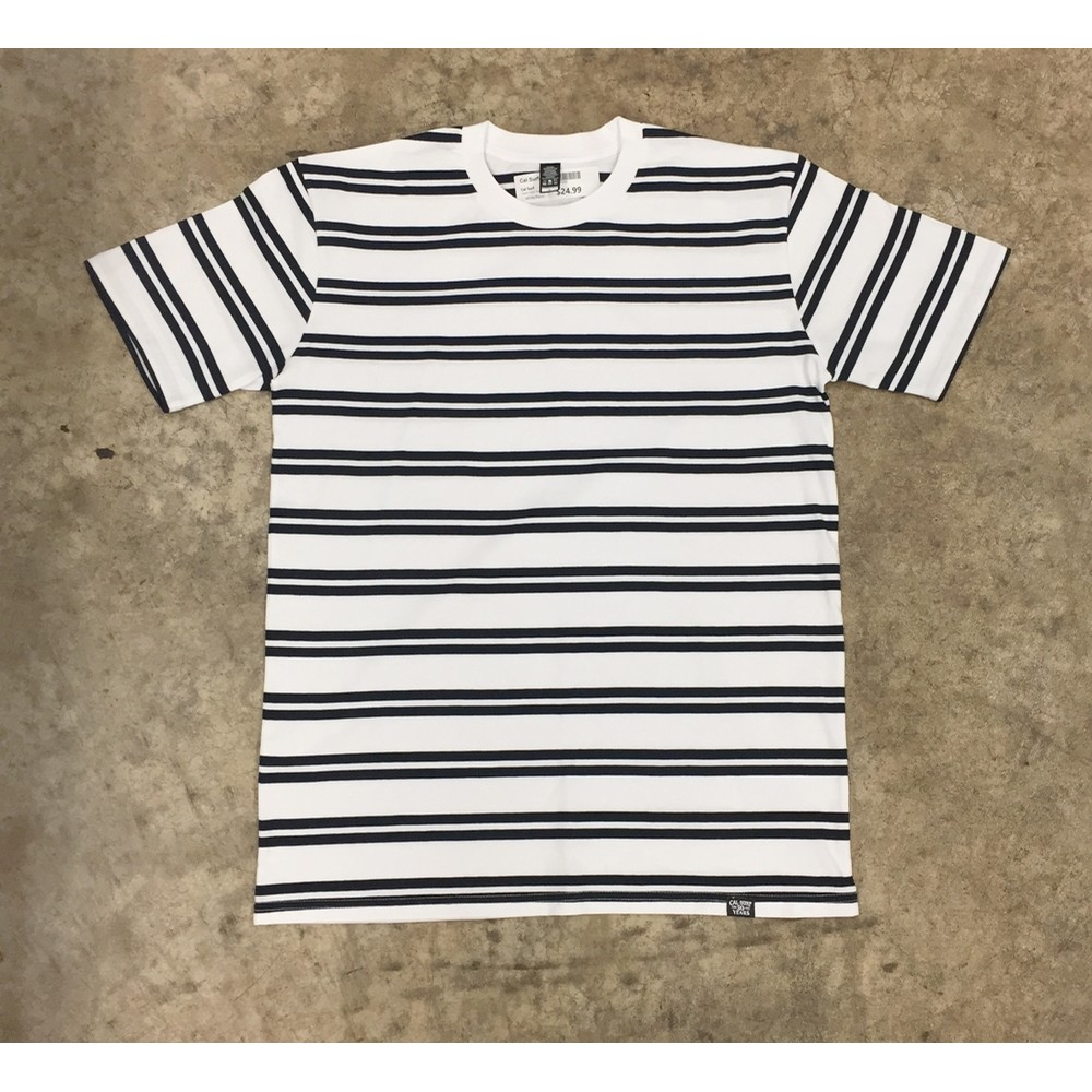 Classic Stripe Tee (wht/nvy)