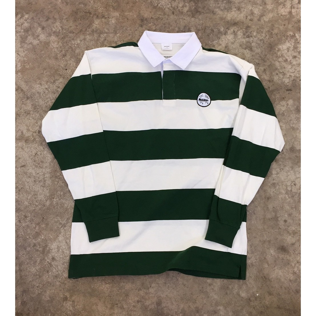Rugby Stripe - Natural/Forest