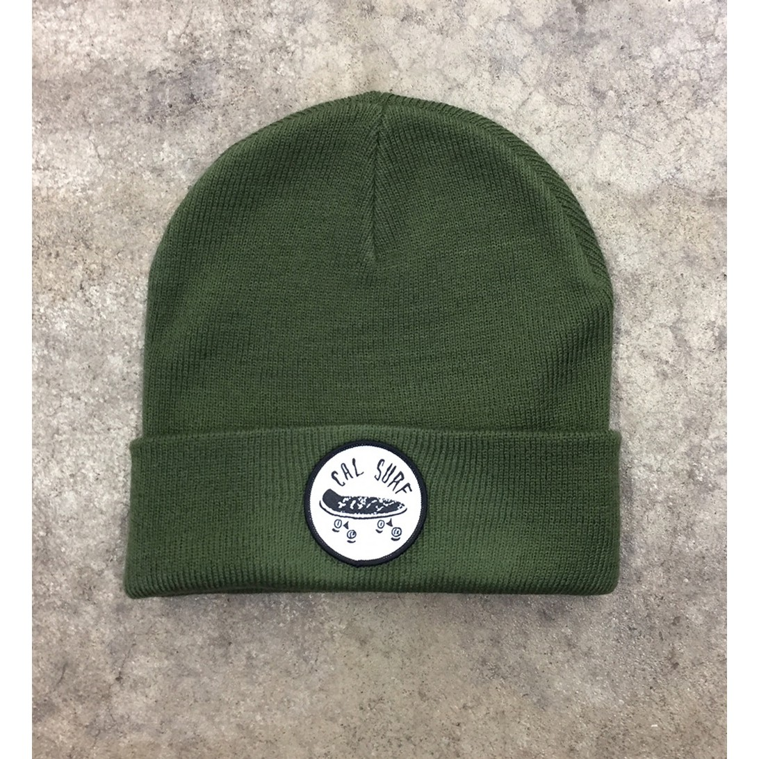 Skate Patch Cuff Beanie - Army