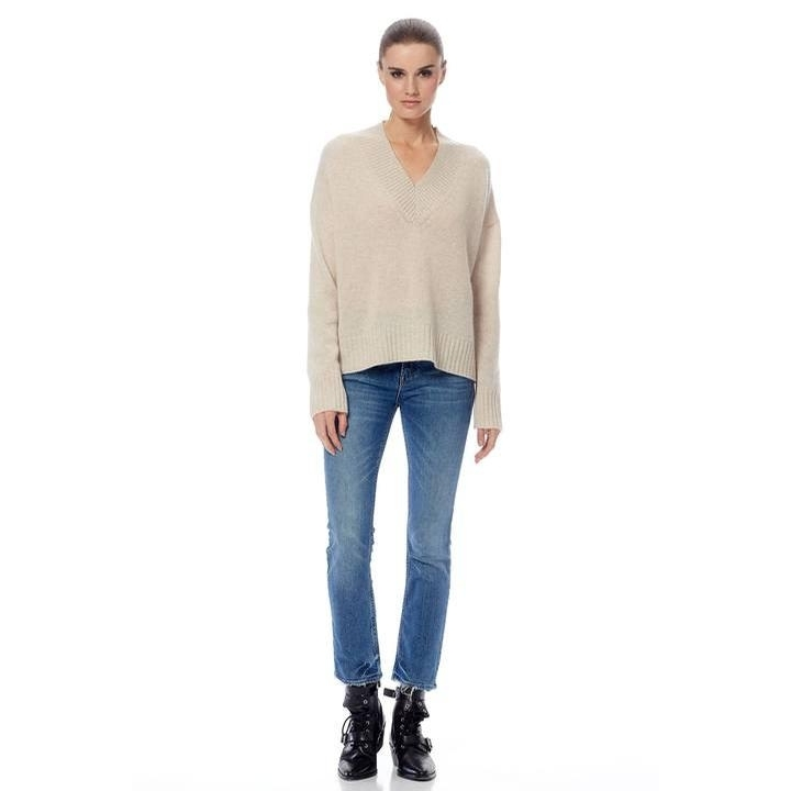Ladies Cashmere Bianca Sweater (Oatmeal/Multi)