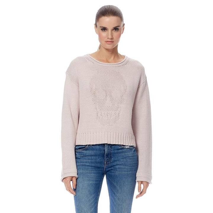 Ladies Cashmere Bonnie Sweater (Putty)