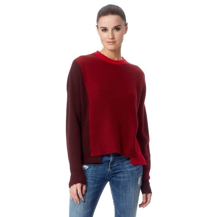 Ladies Cashmere Akima Sweater (Port/Russet/Ruby)