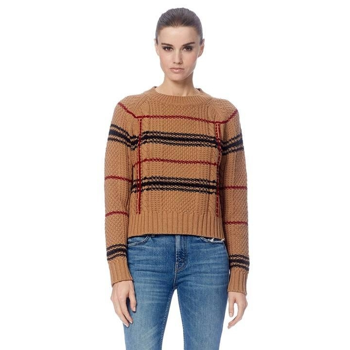 Ladies Ella Sweater (Camel/Rosso/Black)