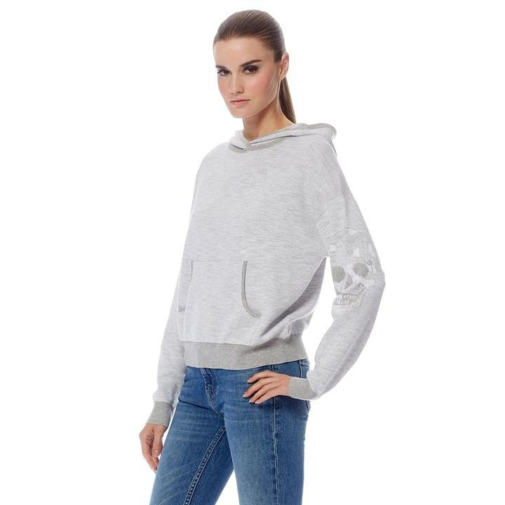 Ladies Martha Sweater (Grey/White)