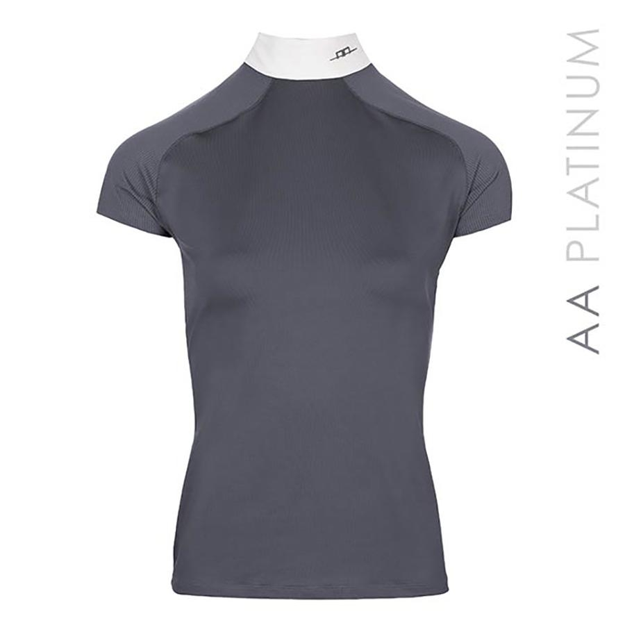 Ladies Milena Competition Short Sleeve Show Shirt (Dark Grey)