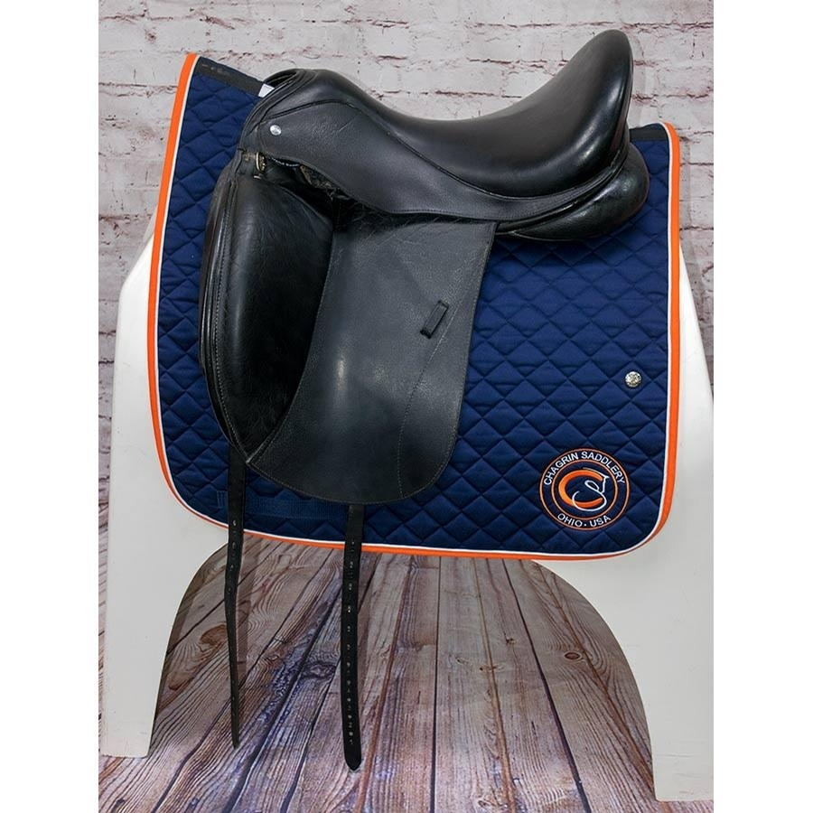 17 1/2 IN Custom Saddlery Revolution Monoflap Saddle Wide Tree