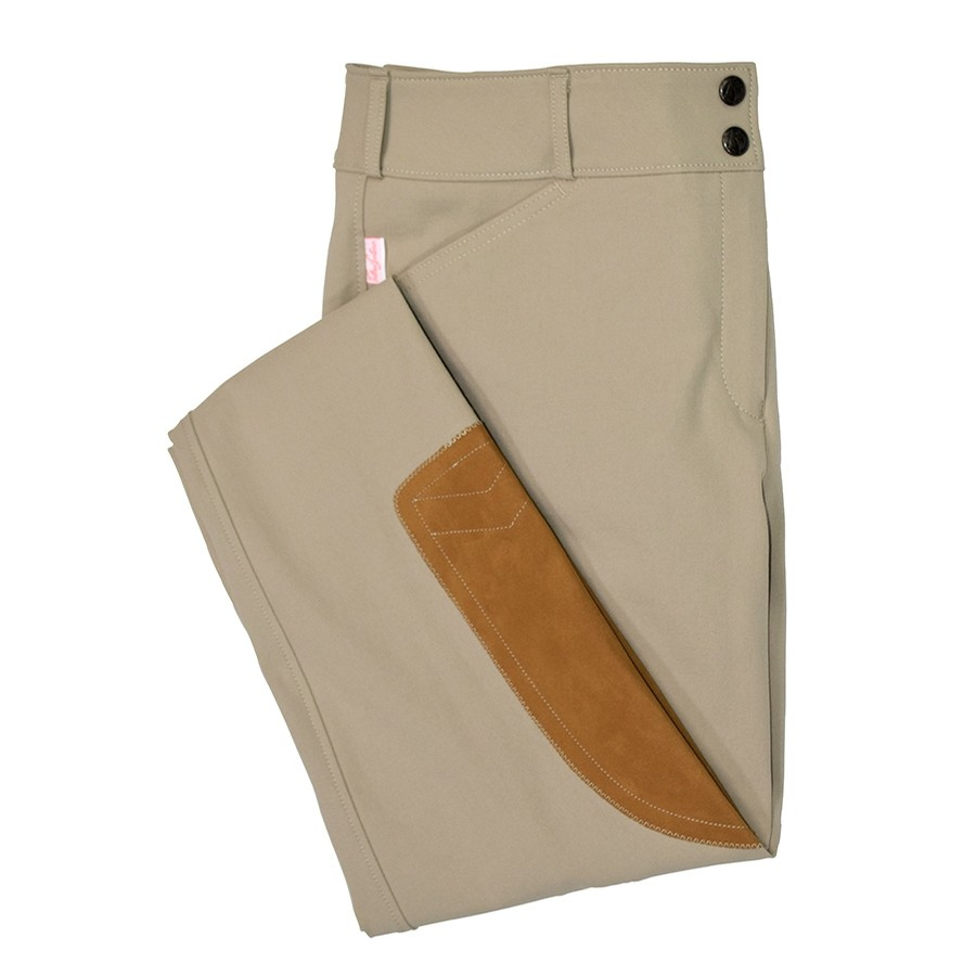 Tailored Sportsman Ladies Trophy Hunter Low Rise Front Zip Breech (Tan)