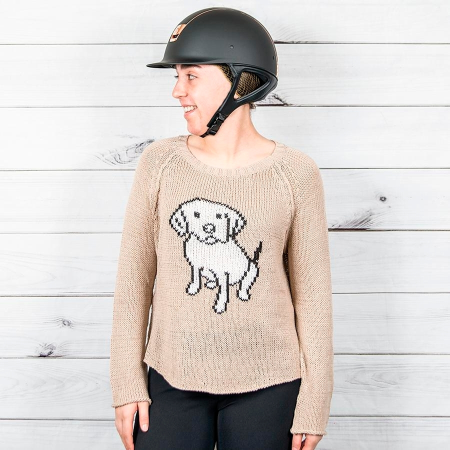 Ladies Dog Days Cotton Crewneck Sweater (Beach Road)