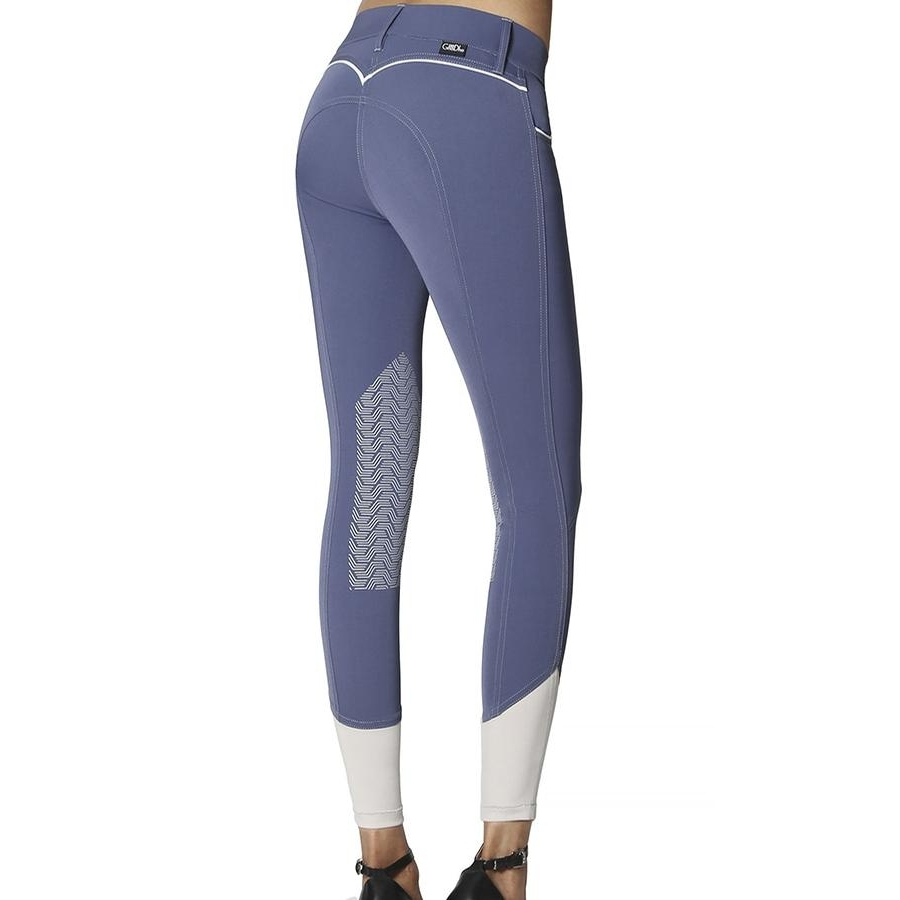 Ladies Elara Knee Patch Breech (Ocean)