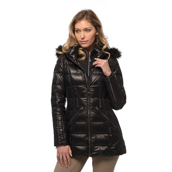 Ladies Glam Down Parka (Black)