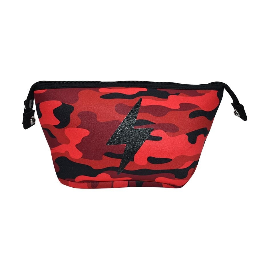 Erin Cosmetic Case (Red Camo/Bolt)