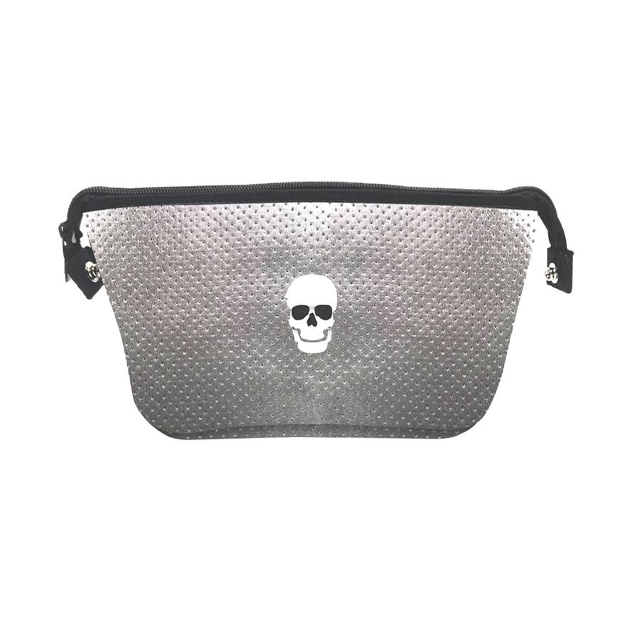 Erin Cosmetic Case (Charcoal Coated/Skull)