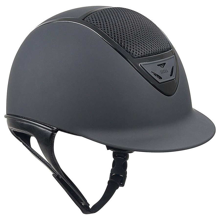 IRH XLT Matte Helmet with Gloss Vents (Black)
