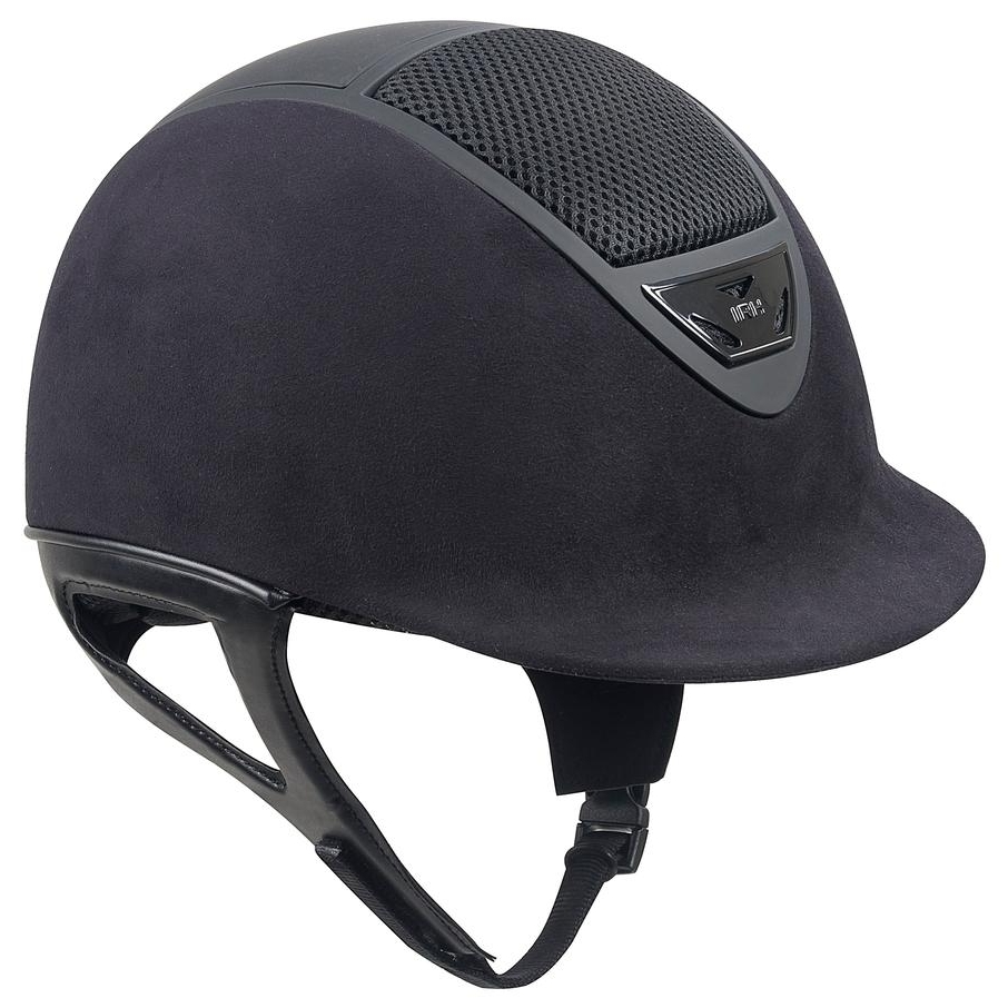 IRH XLT Suede Helmet with Matte Vents (Black)