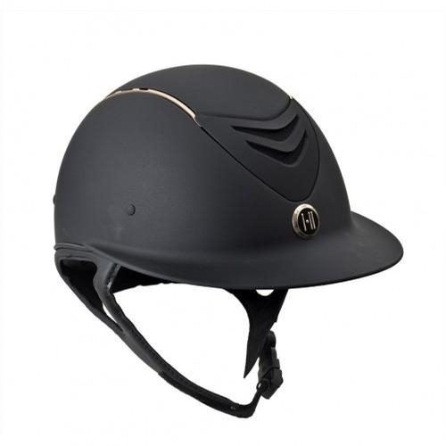Defender Matte Avance Rose Gold Stripe Helmet (Black)