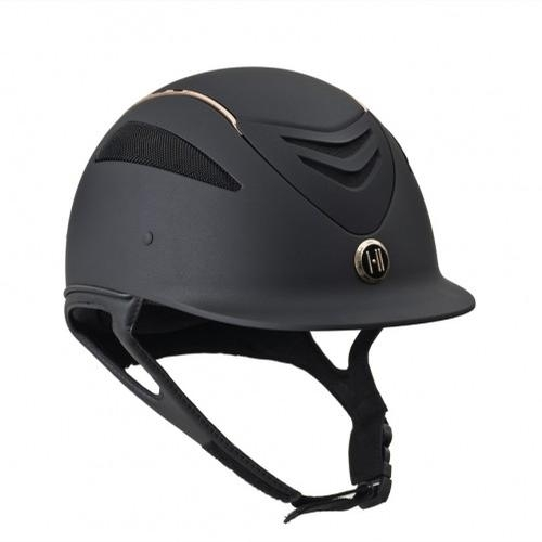 Defender Matte Rose Gold Stripe Helmet (Black)