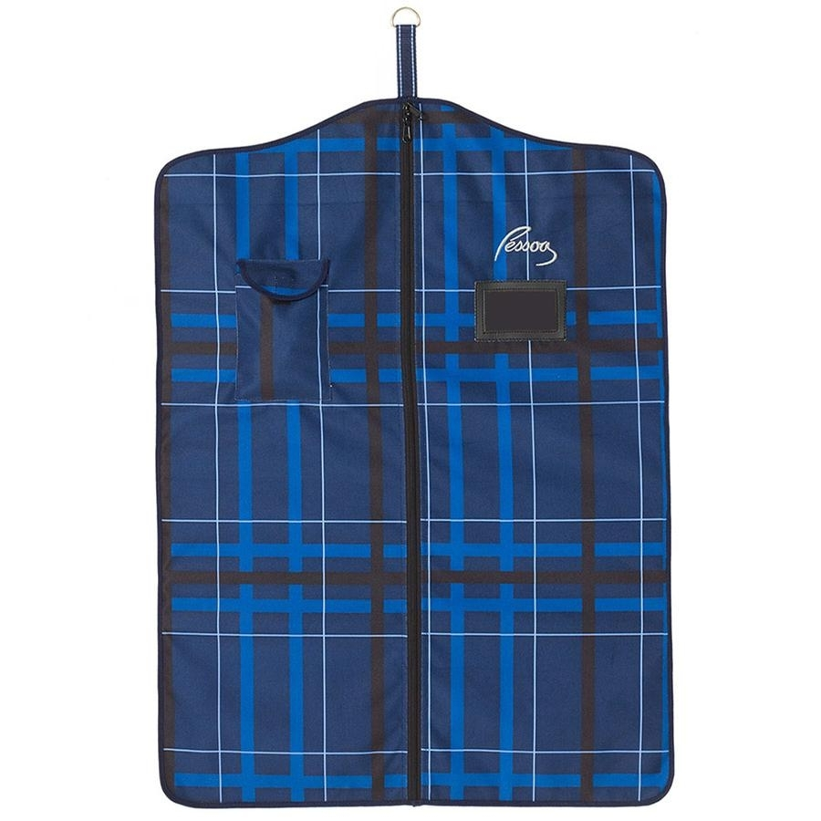 Alpine Garment Bag (Navy/Black Plaid)