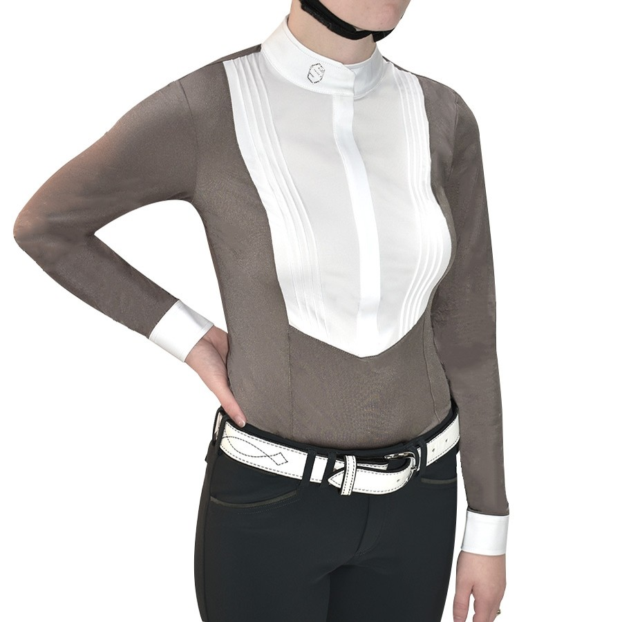 Ladies Sophia Long Sleeve Show Shirt (Taupe)