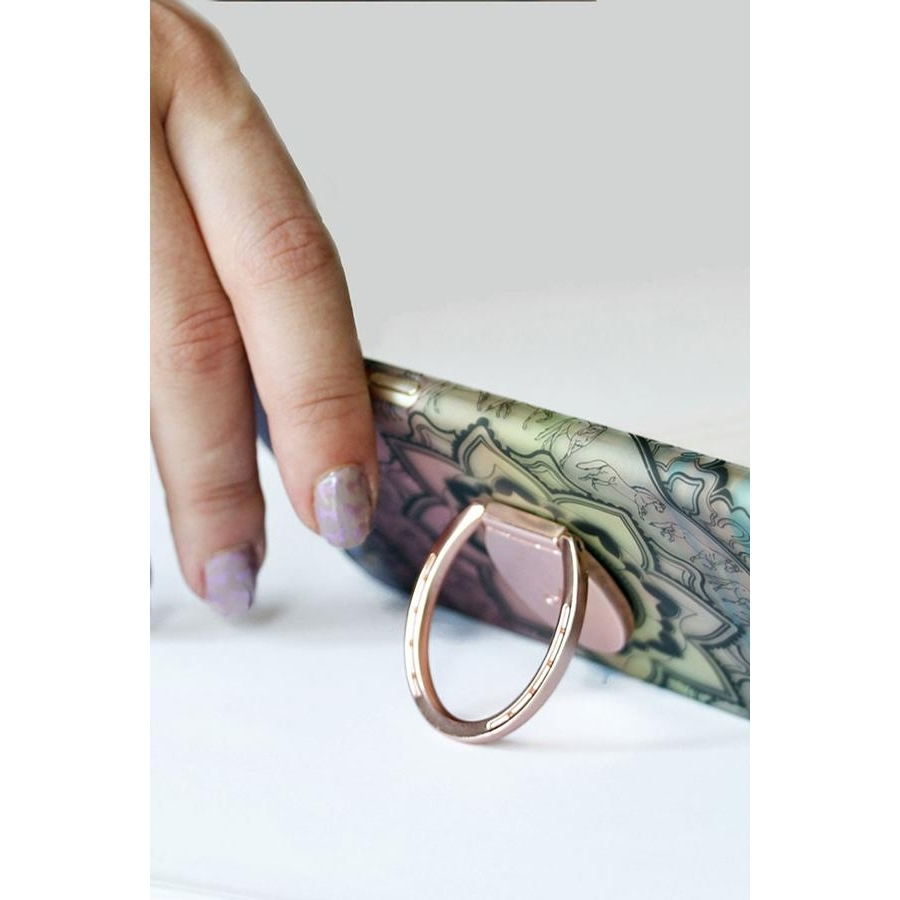 Horseshoe Phone Ring (Rose Gold)