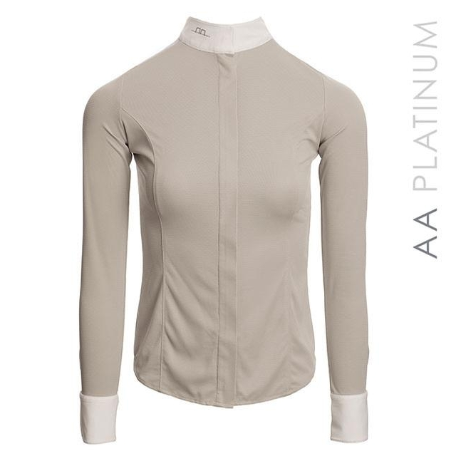 Ladies Clean Cool Fresh Long Sleeve Show Shirt (Pearl Grey)