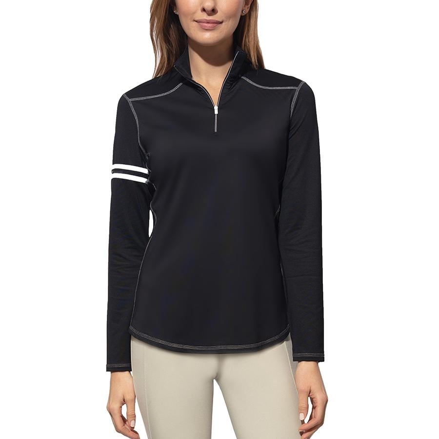 Ladies Active Rider Long Sleeve Sun Blocker Shirt (Black)