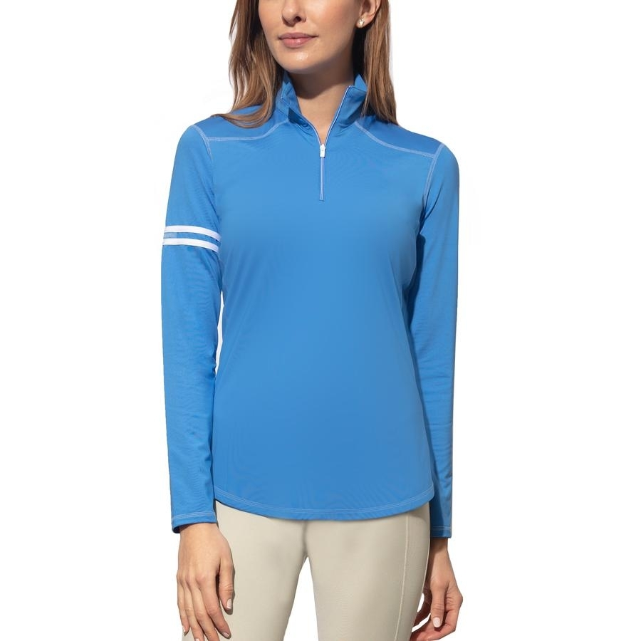 Ladies Active Rider Long Sleeve Sun Blocker Shirt (Cornflower)