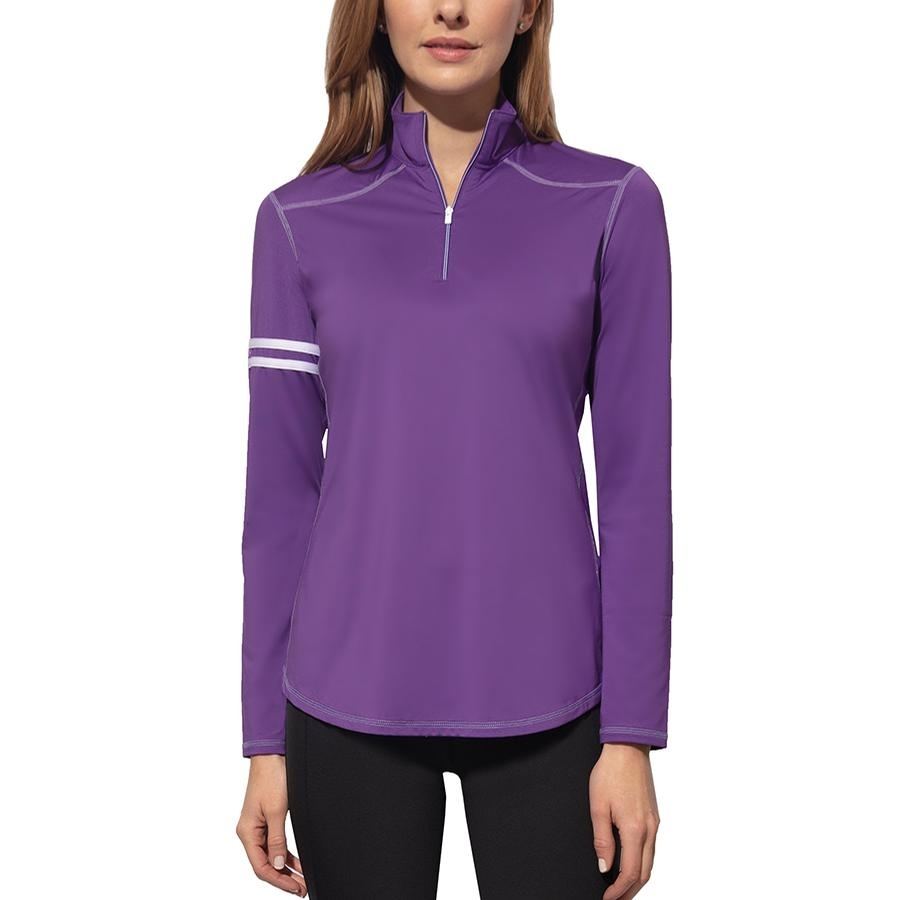 Ladies Active Rider Long Sleeve Sun Blocker Shirt (Grapeade Purple)