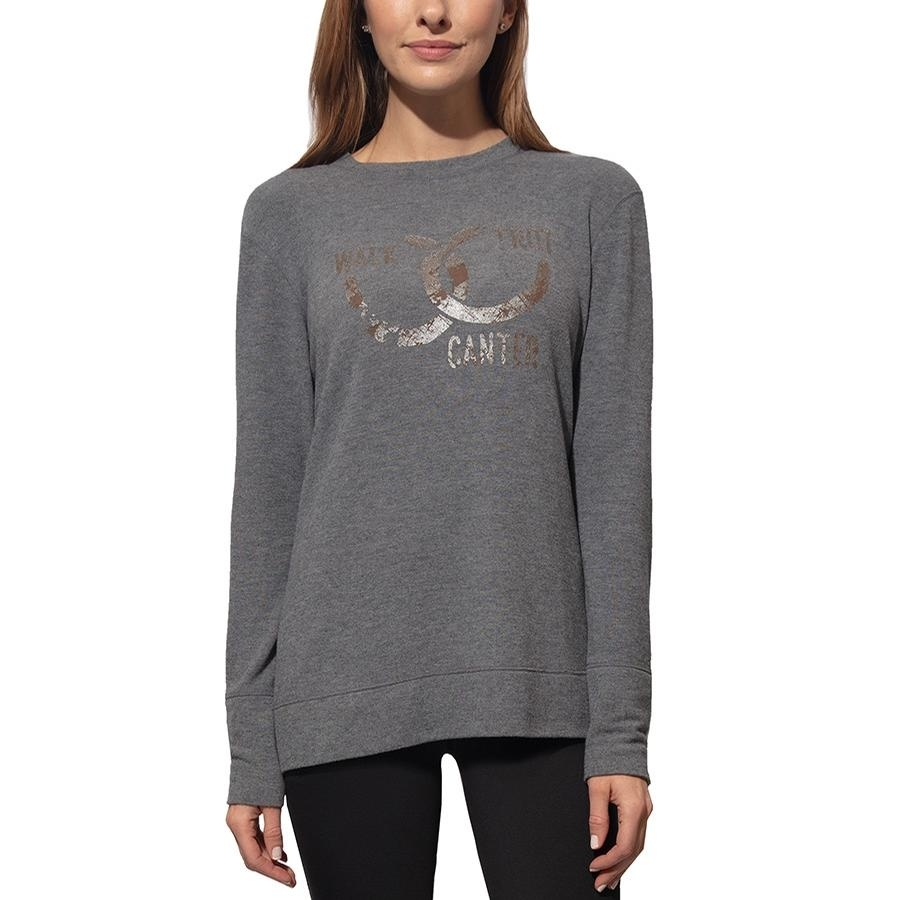 Ladies Rider Lounge Sweater (Iron Gray)