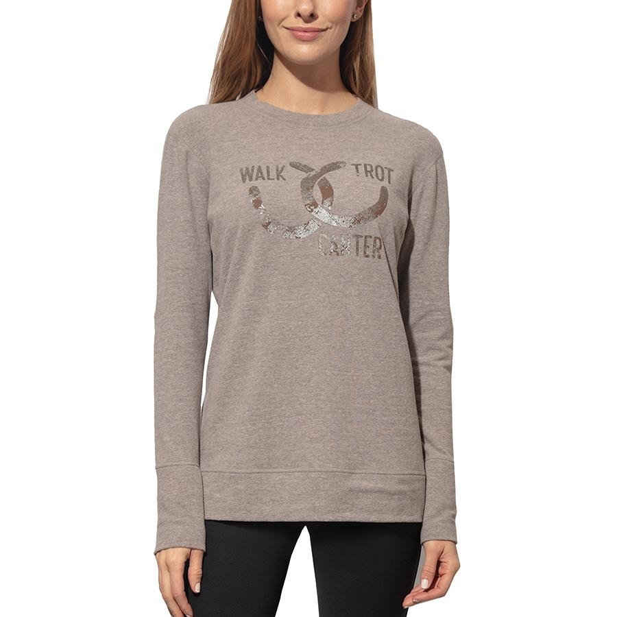 Ladies Rider Lounge Sweater (Steeple Gray)