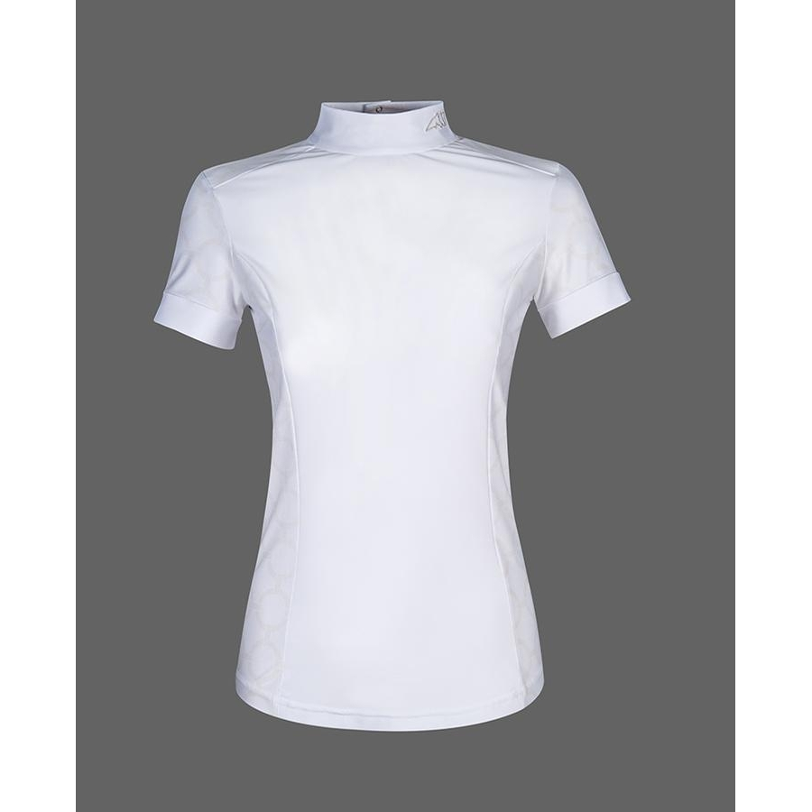 Ladies Akira Short Sleeve Competition Polo (White)