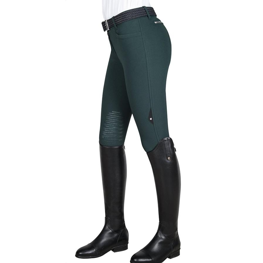 Ladies Ash Knee Patch Breech (Bottle Green)