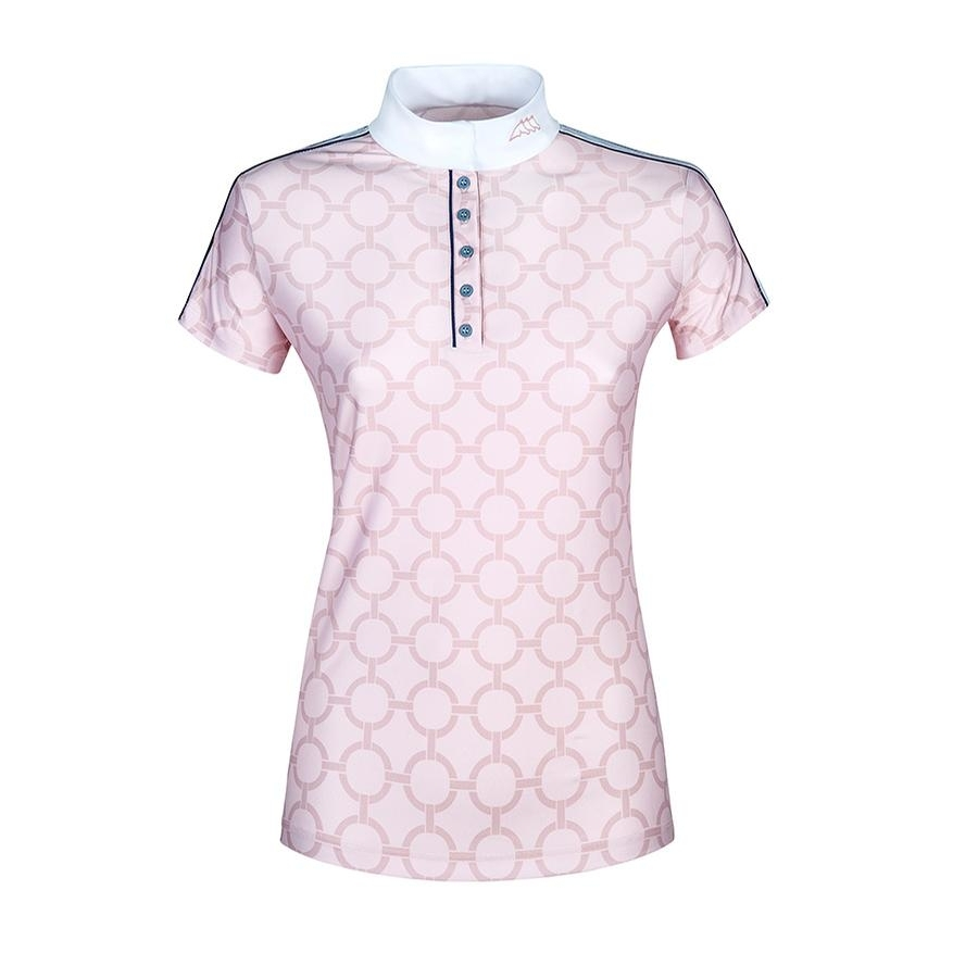 Ladies Belen Short Sleeve Competition Polo (White/Pink)