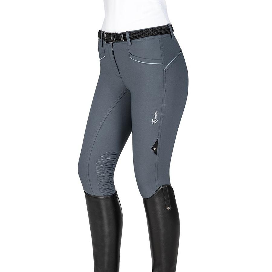 Ladies Lena Knee Patch Breech (Grey)
