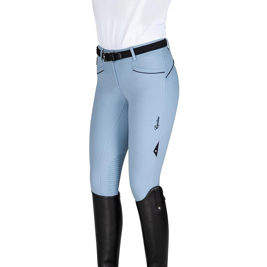 Ladies Lena Knee Patch Breech (Light Blue)