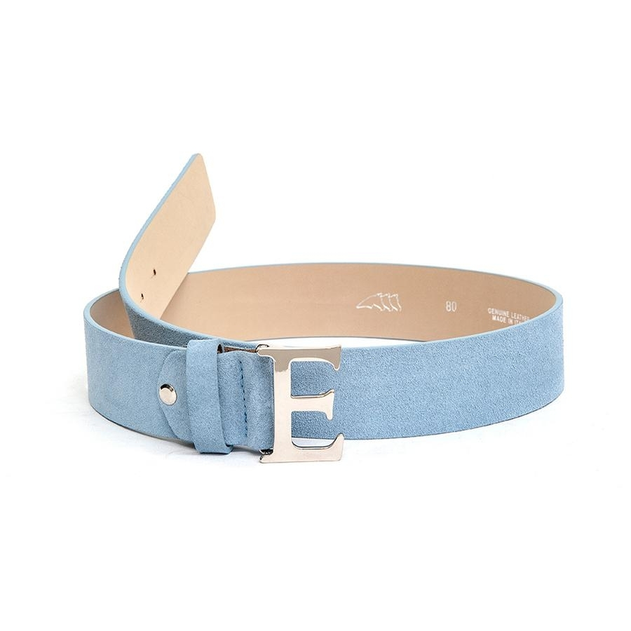 Ladies Pastel Suede Belt (Light Blue)