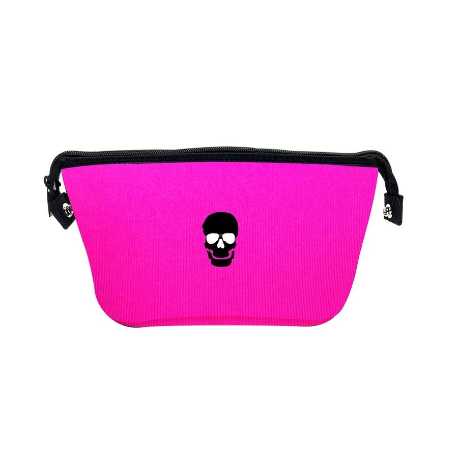 Erin Cosmetic Case (Hot Pink/Skull)
