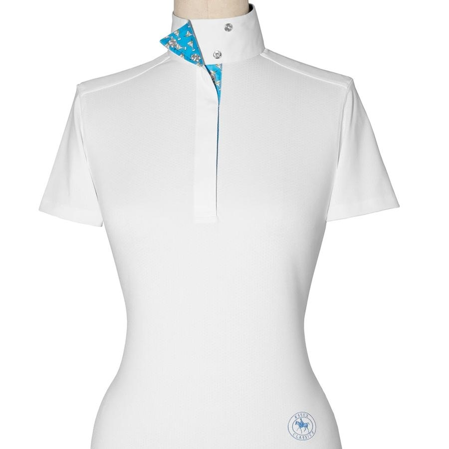 Ladies Talent Yarn Martini SS Show Shirt (White/Blue)
