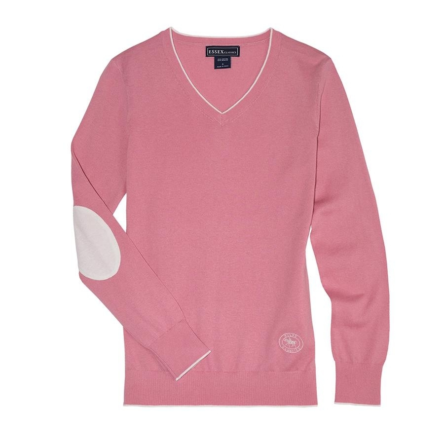 Ladies Trey V-Neck Sweater (Light Pink)