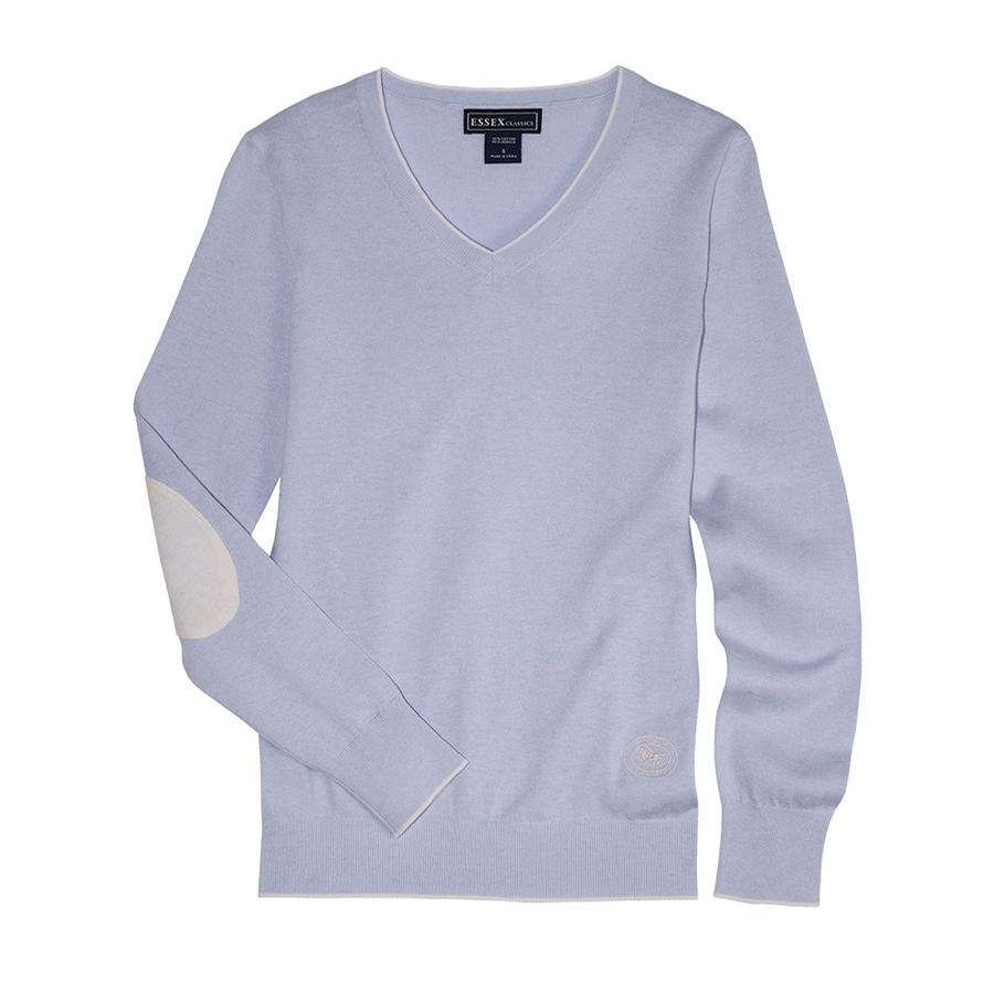 Ladies Trey V-Neck Sweater (Powder Blue)