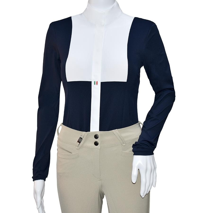 For Horses Ladies Alina Long Sleeve Shirt (Navy)
