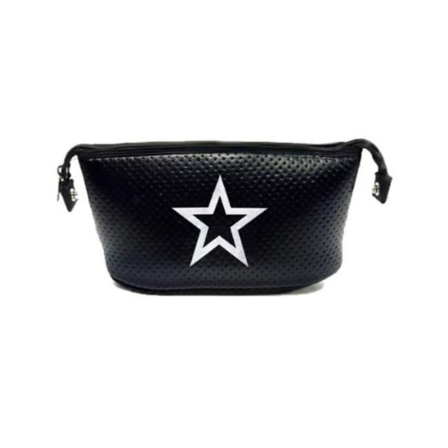 Erin Cosmetic Case (Black Coated/Silver Sparkle Star)