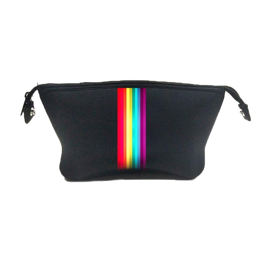 Erin Cosmetic Case (Black/Rainbow)