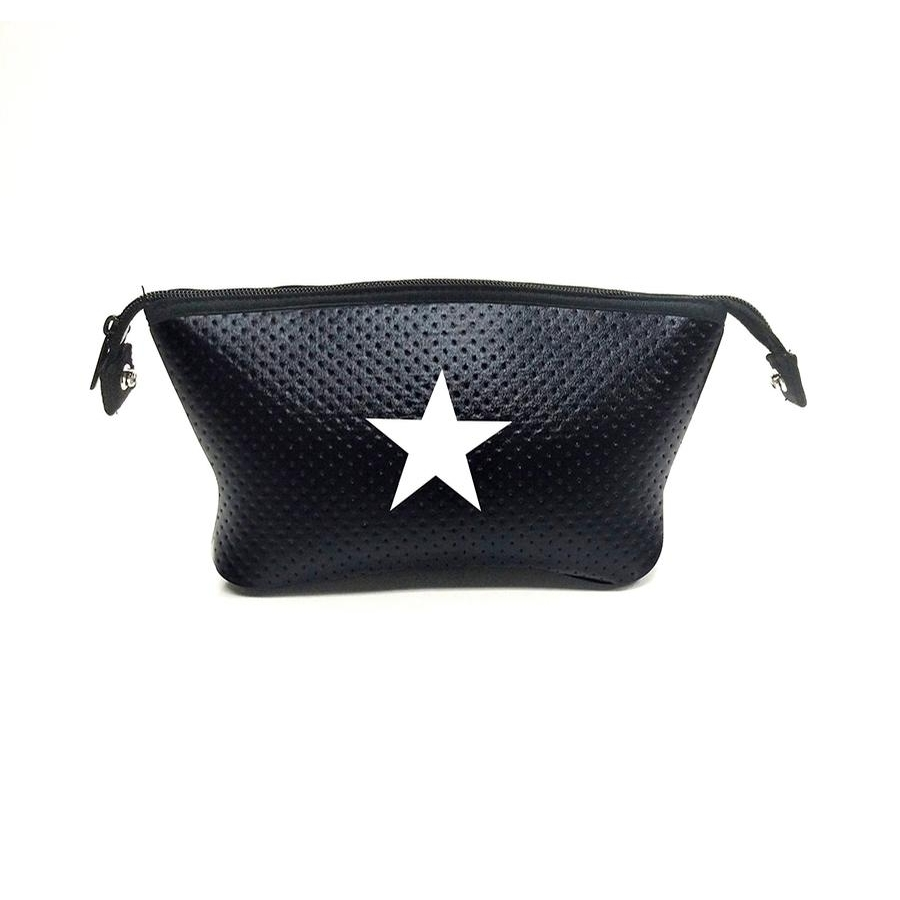 Erin Cosmetic Case (Black/White Star)
