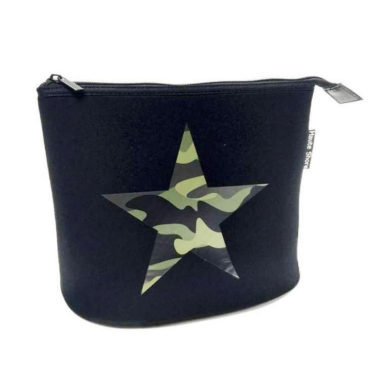 Lin Toiletry Bag (Green Camo Star)