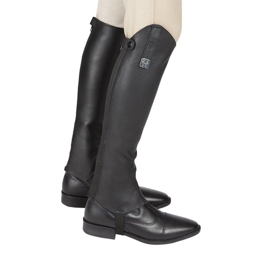 Huntley Equestrian Premium Brazilian Leather Half Chaps