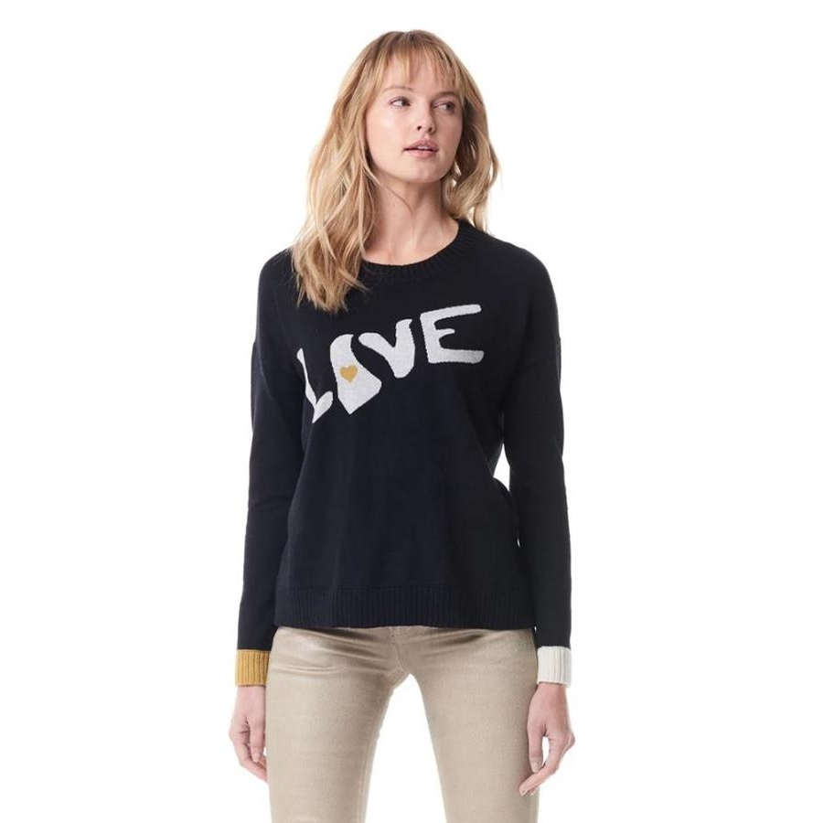 True Love Crewneck Sweater (Black)