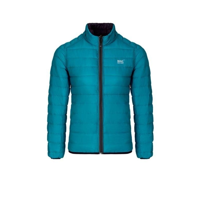 Ladies Polar Down Reversible Jacket (Jet Black/Teal)