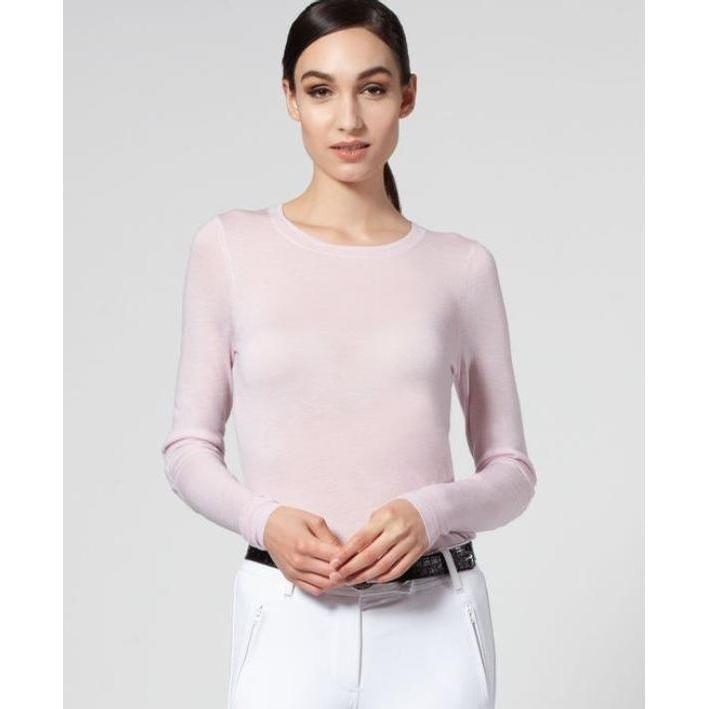 Ladies Leia Crew Neck Merino Sweater (Primrose)