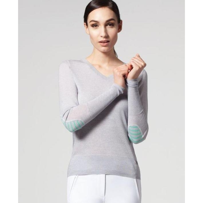 Ladies Rey V-Neck Merino Sweater (Luna)