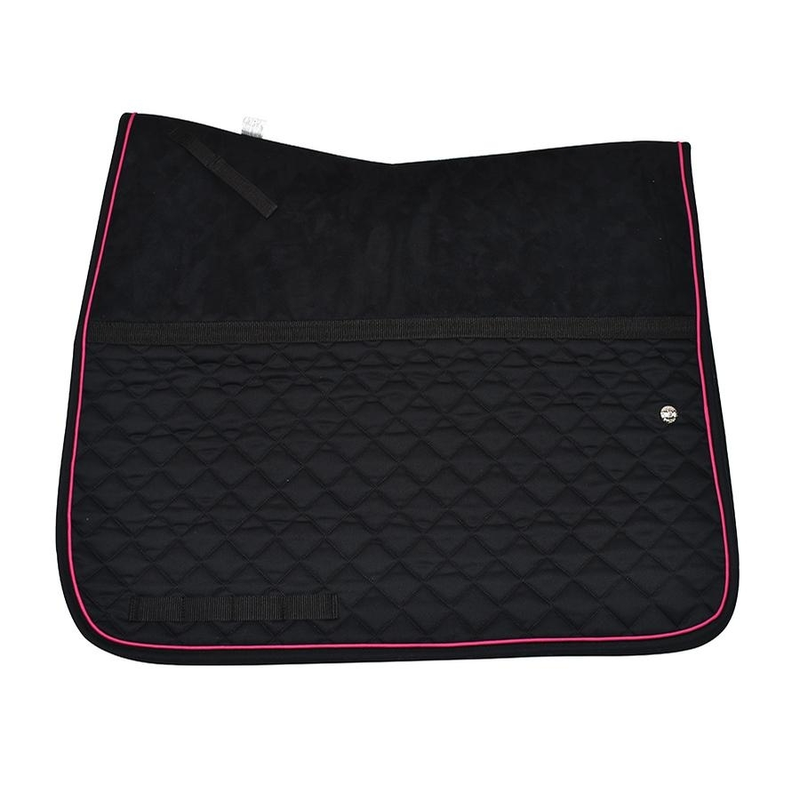 Friction Free Dressage Pad (Black/Hot Pink/Black)
